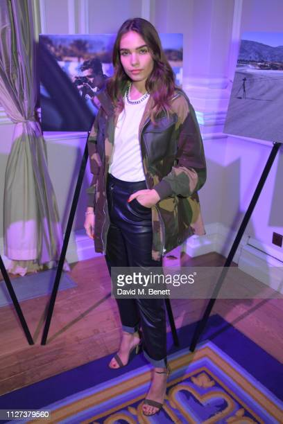 Hana Cross attends the GQ Car Awards 2019 in association with Michelin at the Corinthia Hotel London on February 04 2019 in London England