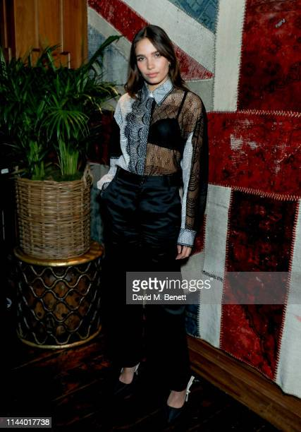 Hana Cross attends the Man About Town magazine issue launch at Novikovon May 15 2019 in London England