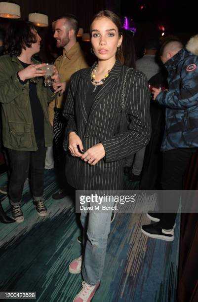 Hana Cross attends the NME Awards after party in association with Copper Dog at The Standard on February 12 2020 in London England