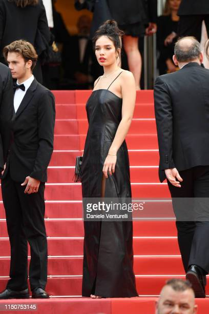Hana Cross attends the screening of Once Upon A Time In Hollywood during the 72nd annual Cannes Film Festival on May 21 2019 in Cannes France