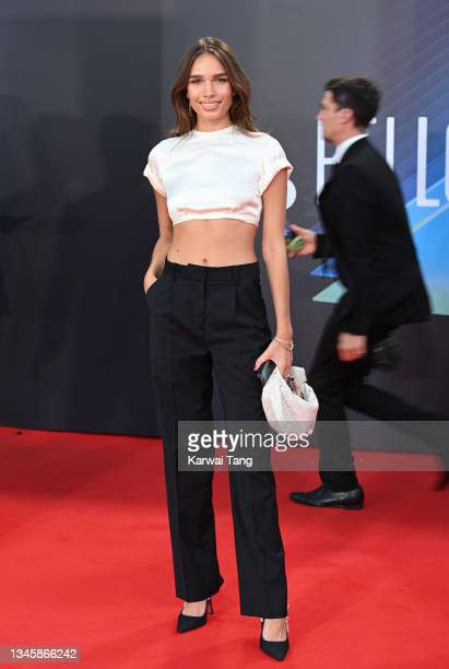 """Hana Cross attends the """"The French Dispatch"""" UK Premiere during the 65th BFI London Film Festival at The Royal Festival Hall on October 10, 2021 in..."""