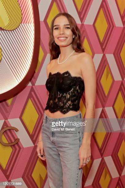 Hana Cross attends the Warner Music & CIROC BRIT Awards house party, in association with GQ, at The Chiltern Firehouse on February 18, 2020 in...