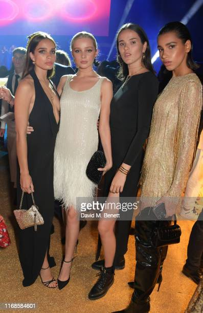 Hana Cross Hamidah Brinkley Frankie Herbert and Chiara Sampaio attend the Bvlgari Serpenti Seduttori launch at the Roundhouse on September 15 2019 in...