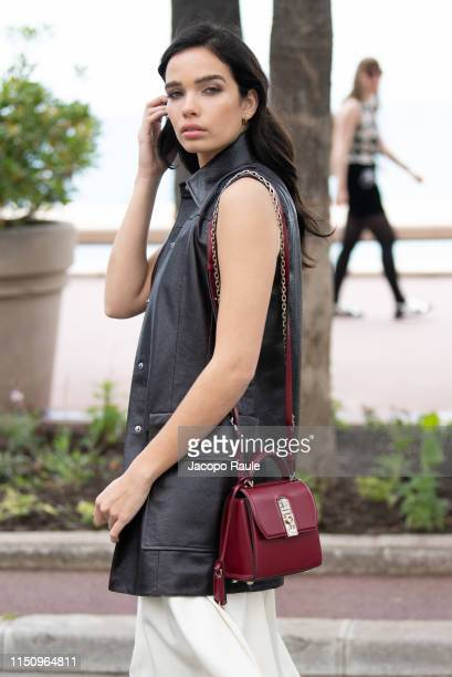 Hana Cross is seen during the 72nd annual Cannes Film Festival at on May 22 2019 in Cannes France