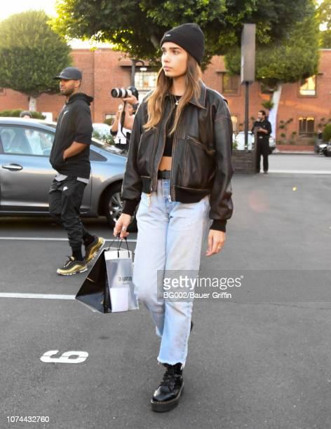 Hana Cross is seen on December 19 2018 in Los Angeles California