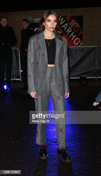 Hana Cross seen attending Tommy Hilfiger catwalk show at Tate Modern during LFW February 2020 on February 16 2020 in London England