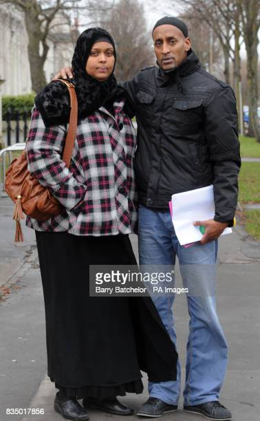 Hana Ismail left and Mustefa Barkhad the parents of eighteenmonthold Fatama Barkhad of Angelina Street Butetown Cardiff who died of meningococcal...