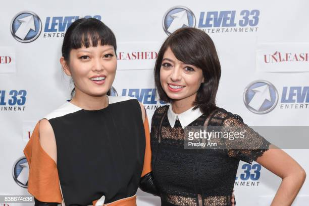 Hana Mae Lee and Kate Micucci attend Premiere Of Level 33 Entertainment's 'Unleashed' Arrivals at Laemmle Monica Film Center on August 24 2017 in...