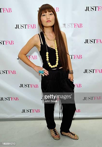 Hana Mae Lee attends JustFabcom Los Angeles flagship store debut at Glendale Galleria on September 14 2013 in Glendale California