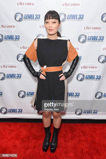 Hana Mae Lee attends Premiere Of Level 33 Entertainment's 'Unleashed' Arrivals at Laemmle Monica Film Center on August 24 2017 in Santa Monica...