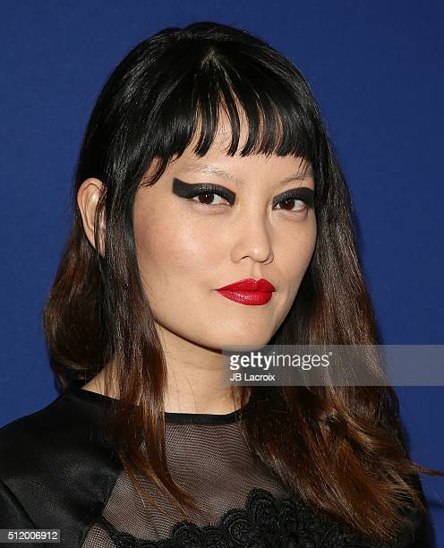 Hana Mae Lee attends the 18th Costume Designers Guild Awards at The Beverly Hilton Hotel on February 23 2016 in Beverly Hills California