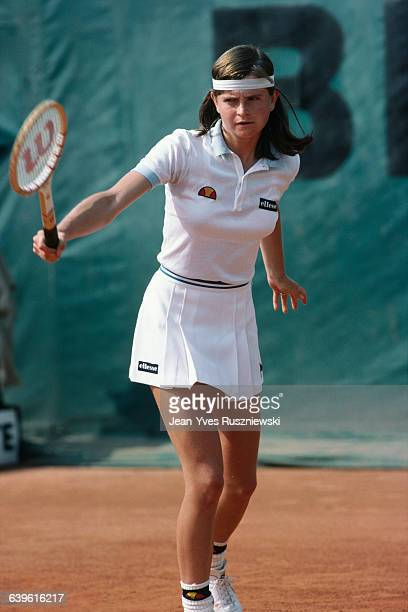 Hana Mandlikova from Czechoslovakia at the Roland Garros French Open