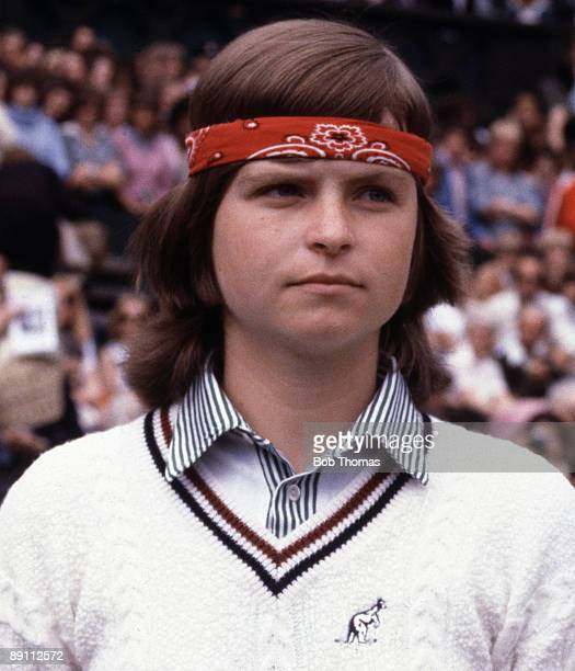 Hana Mandlikova of Czechoslovakia during the Wimbledon Lawn Tennis Championships held at the All England Club in London England during July 1979