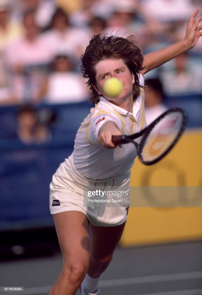 Hana Mandlikova of Czechoslovakia in action, circa 1985.