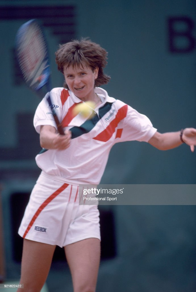 Hana Mandlikova of Czechoslovakia in action during the French Open Tennis Championships at the Stade Roland Garros circa May 1989 in Paris, France.