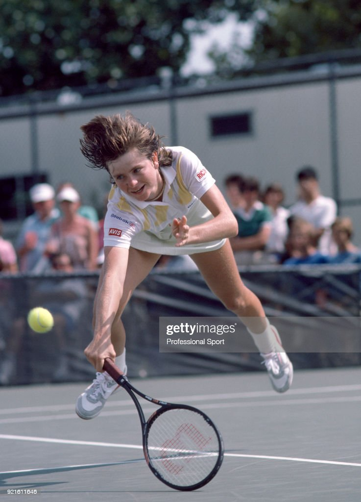 Hana Mandlikova of Czechoslovakia in action during the US Open at the USTA National Tennis Center, circa September 1985 in Flushing Meadow, New York, USA.