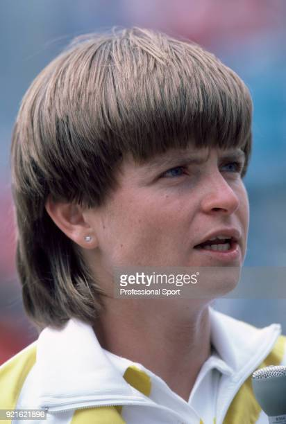 Hana Mandlikova of Czechoslovakia in action during the US Open at the USTA National Tennis Center circa September 1986 in Flushing Meadow New York USA