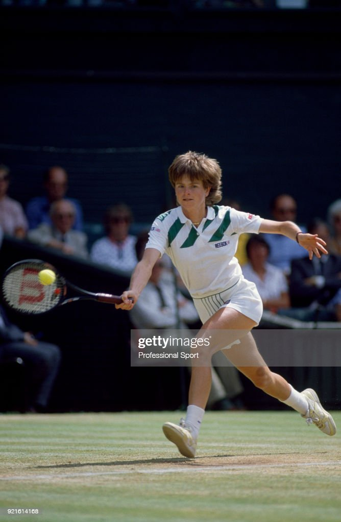 Hana Mandlikova of Czechoslovakia in action during the Wimbledon Lawn Tennis Championships at the All England Lawn Tennis and Croquet Club, circa June, 1986 in London, England.