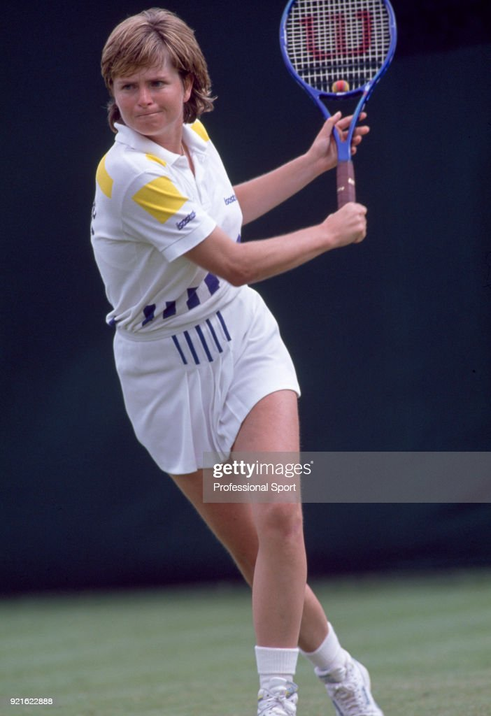 Hana Mandlikova of Czechoslovakia in action during the Wimbledon Lawn Tennis Championships at the All England Lawn Tennis and Croquet Club, circa June, 1990 in London, England.