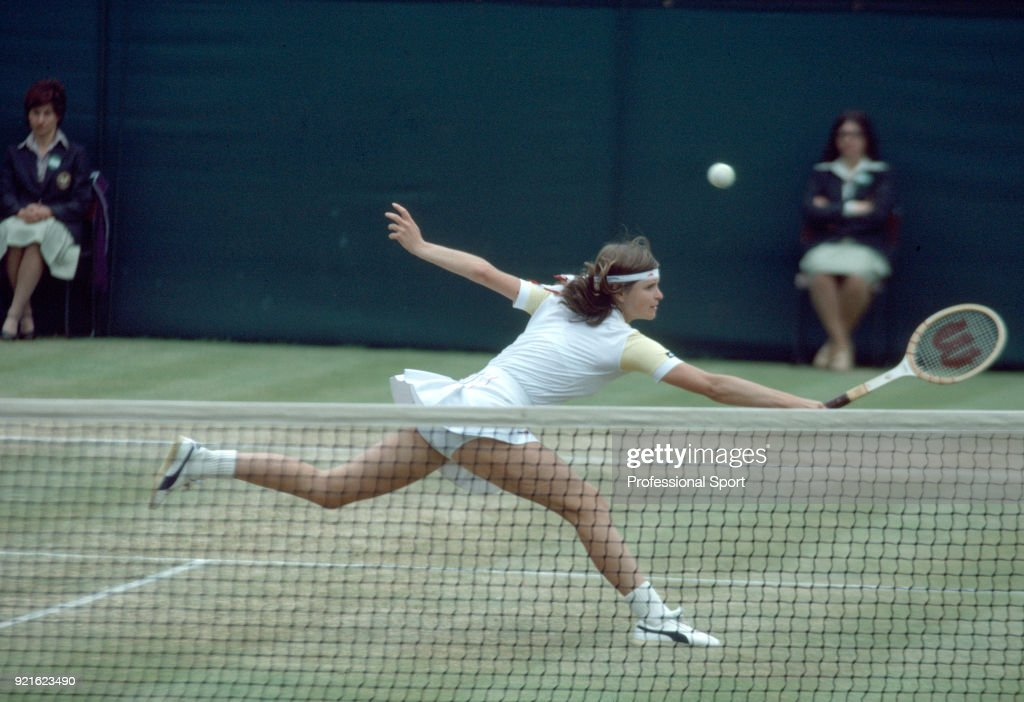 Hana Mandlikova of Czechoslovakia in action during the Wimbledon Lawn Tennis Championships at the All England Lawn Tennis and Croquet Club, circa June, 1981 in London, England.
