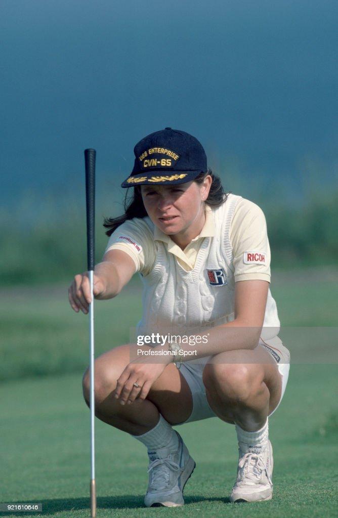 Hana Mandlikova of Czechoslovakia playing golf during the Eastbourne Tennis Championships circa June, 1984 in Eastbourne, England.