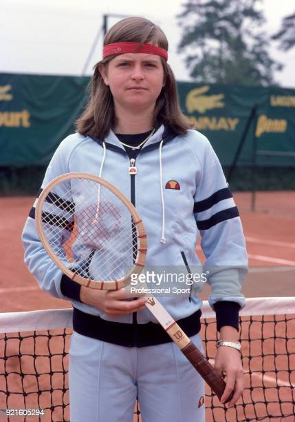 Hana Mandlikova of Czechoslovakia poses during the French Open Tennis Championships at the Stade Roland Garros circa May 1981 in Paris France