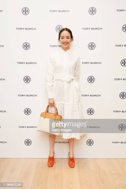 Hana Matsushima attends the Tory Burch Ginza Boutique Opening on April 02 2019 in Tokyo Japan