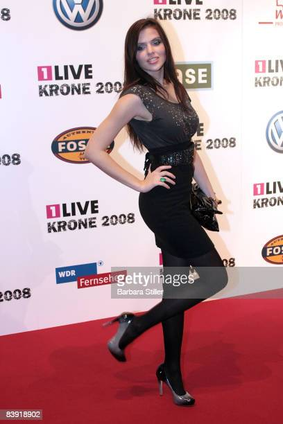 Hana Nitsche attends the ''1Live Krone'' awards on December 4 2008 in Bochum Germany