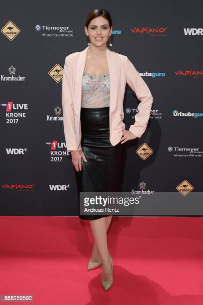 Hana Nitsche attends the 1Live Krone radio award at Jahrhunderthalle on December 7 2017 in Bochum Germany
