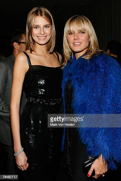 Hana Soukupova and Heidi Klum attend the after party for the Cinema Society and W magazine's Special Screening of Marc Jacobs Louis Vuitton on...
