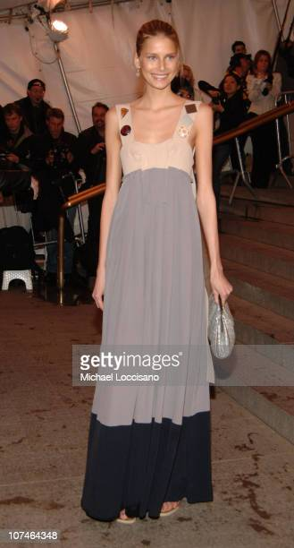 Hana Soukupova during Chanel Costume Institute Gala Opening at the Metropolitan Museum of Art Arrivals at Metropolitan Museum of Art in New York City...