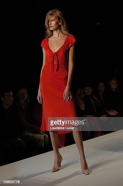 Hana Soukupova during Red Dress Collection 2004 Raising Awareness Of Women And Heart Disease at Bryant Park in New York City New York United States