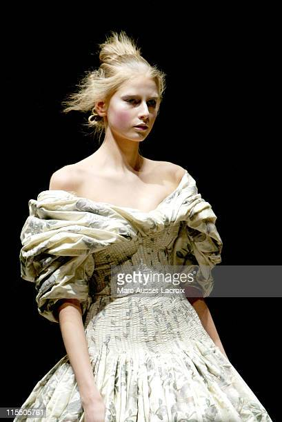 Hana Soukupova wearing Alexander McQueen Autumn/Winter 2006