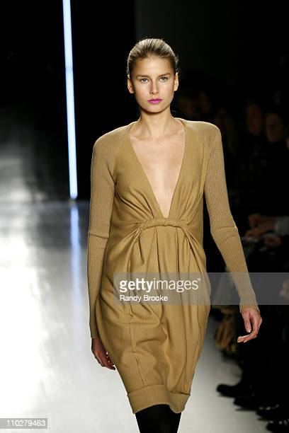 Hana Soukupova wearing Donna Karan Fall 2006 during Olympus Fashion Week Fall 2006 Donna Karan Collection at 711 Greenwich St in New York City New...