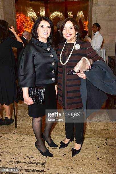 Hana Wiczyk and Edie Nadler attend AFIM Gala Dinner 2016 at Cipriani 25 Broadway on November 2 2016 in New York City