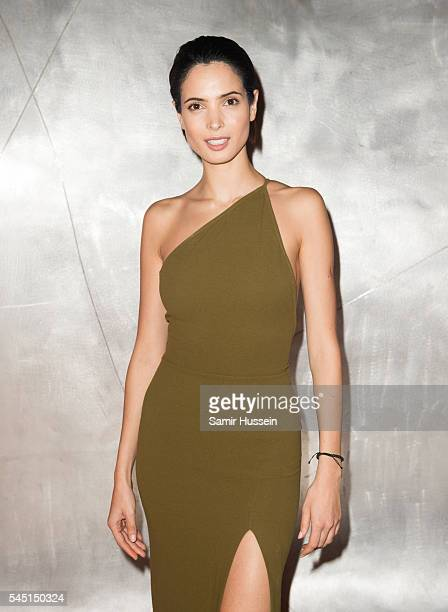Hanaa Ben Abdesslem attends the Ralph Russo And Chopard Host Dinner as part of Paris Fashion Week on July 4 2016 in Paris France