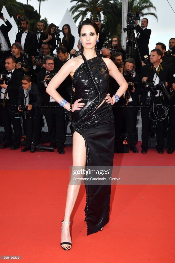 Hanaa Ben Abdesslem attends the screening of 'Burning' during the 71st annual Cannes Film Festival at Palais des Festivals on May 16, 2018 in Cannes, France.