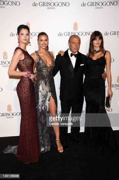 Hanaa Ben Abdesslem Irina Shayk Fawaz Gruosi and Isabeli Fontana attends the de Grisogono Party during the 65th Annual Cannes Film Festival at Hotel...