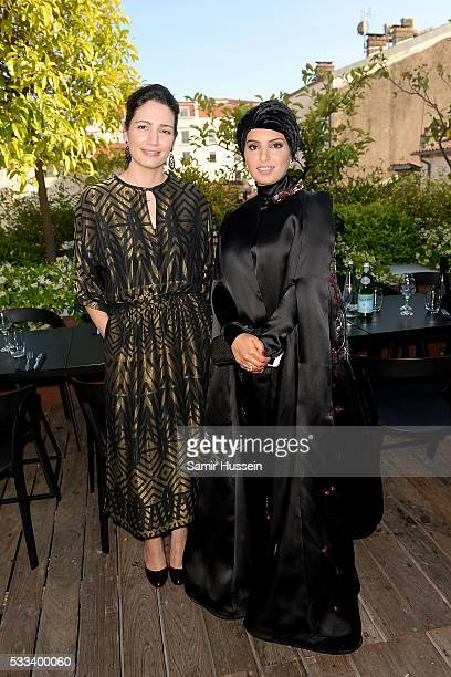 Hanaa Issa and Doha Film Institue CEO Fatma Al Remaihi attend a dinner to celebrate Asghar Farhadi's The Salesman which premiered at the annual 69th...