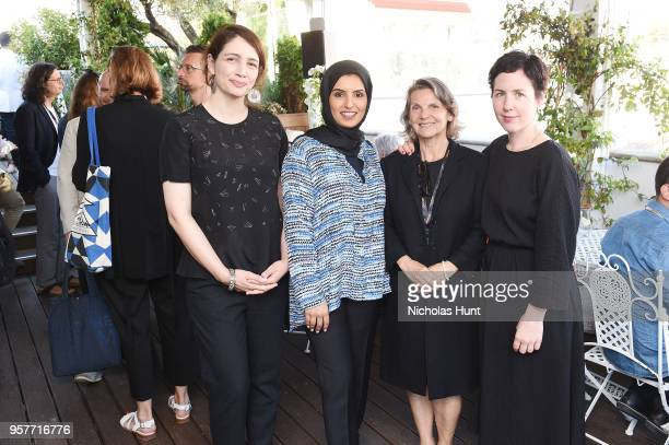 Hanaa Issa DFI's Director of Strategy and Development CEO Fatma Al Remaihi with Documentarian Marion Lacombe and guest at the Doha Film Institute...