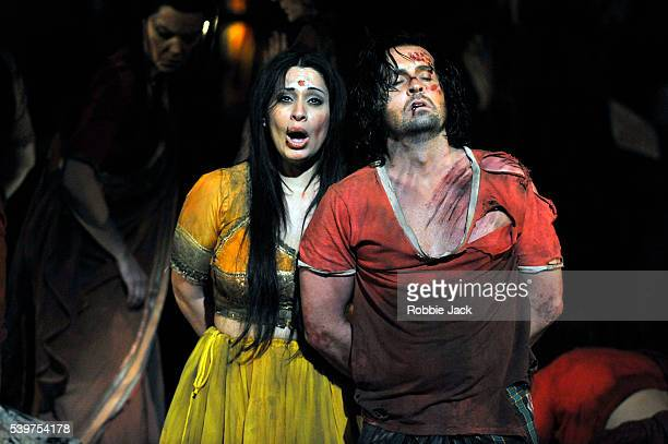 Hanan Alattar as Leila and Alfie Boe as Nadir in the English National Opera's production of Georges Bizet's 'The Pearl Fishers' directed by Penny...