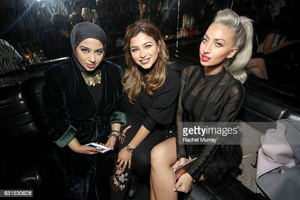 Hanan Alnajadah @hananalnajadah Noha Nabil @nohastyleicon and Model Roz @model_roz attend the NYX Cosmetics professional makeup #ArtRev 2017 Welcome...