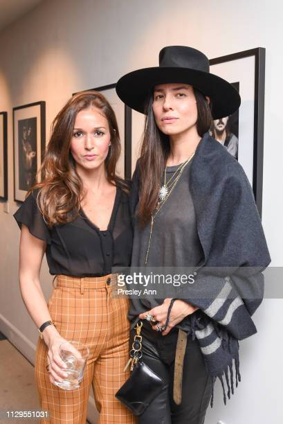 Hanane El Moutii and Tasya van Ree attend Oliver Peoples x Tasya van Ree Celebrates Who is Oliver Exhibition at LECLAIREUR on February 13 2019 in Los...