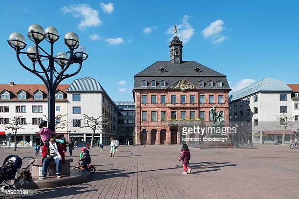 hanau, marketplace, neustädter marktplatz, germany - hanau stock pictures, royalty-free photos & images
