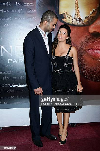 Hancock premiere in Paris France on June 16 2008 Tony Parker and Eva Longoria