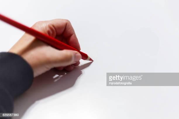 hand and crayon - mjrodafotografia fotografías e imágenes de stock