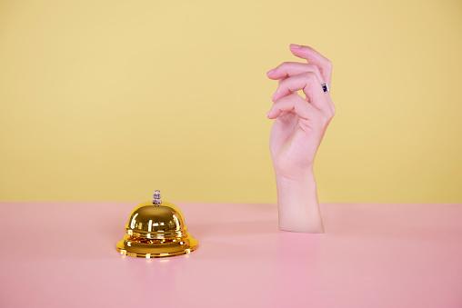 hand and desk bell - gettyimageskorea
