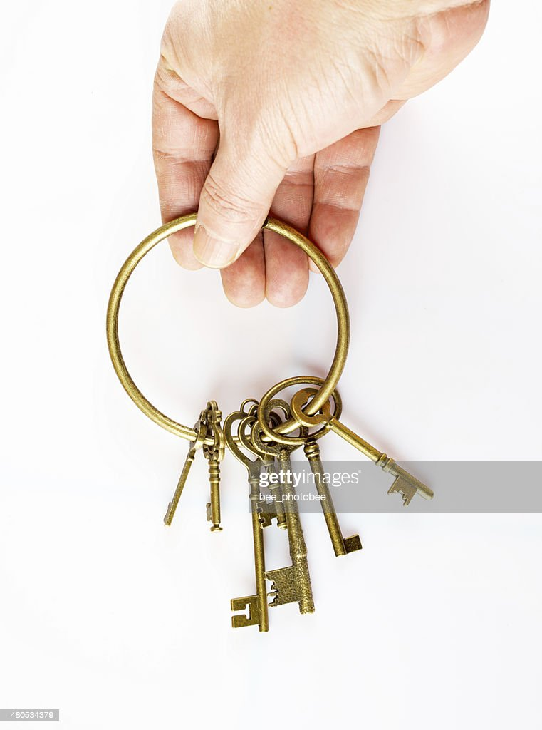 hand and keys : Stock Photo
