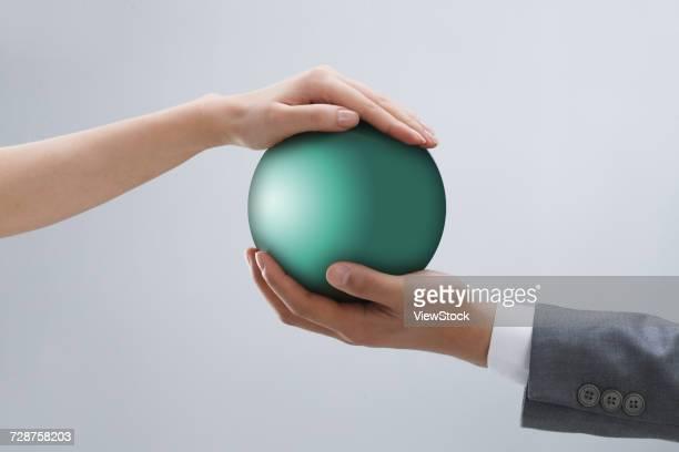 Hand ball close-up