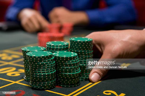 Hand betting gambling chips